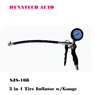 3 In 1 Tire Inflator with Gauge